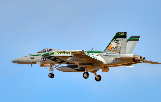 Aurora56さんが、厚木飛行場で撮影したアメリカ海軍 F/A-18E Super Hornetの航空フォト(飛行機 写真・画像)