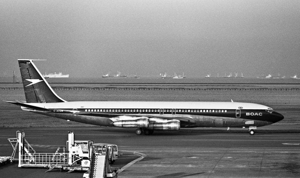 Y.Todaさんのブリティッシュ・オーバーシーズ・エアウェイズ (BOAC) Boeing 707 (G-AXGW) 航空フォト
