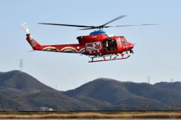Gambardierさんが、岡南飛行場で撮影した岡山県消防防災航空隊 412EPの航空フォト(飛行機 写真・画像)