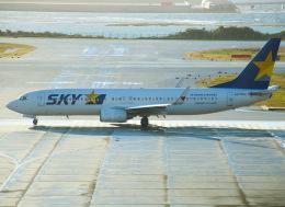えのびよーんさんが、那覇空港で撮影したスカイマーク 737-8FZの航空フォト(飛行機 写真・画像)