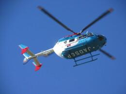 チダ.ニックさんが、静岡ヘリポートで撮影した中日新聞社 BK117C-2の航空フォト(飛行機 写真・画像)