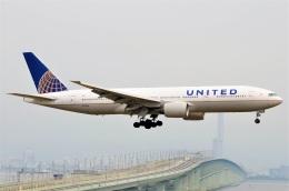amagoさんが、関西国際空港で撮影したユナイテッド航空 777-222/ERの航空フォト(飛行機 写真・画像)
