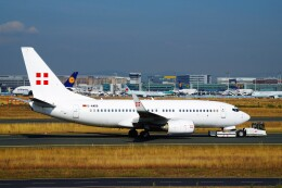 ちっとろむさんが、フランクフルト国際空港で撮影したプライベートエア 737-7CN BBJの航空フォト(飛行機 写真・画像)