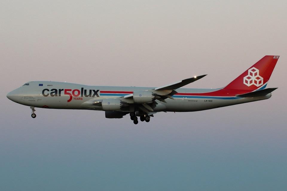 たみぃさんのカーゴルクス Boeing 747-8 (LX-VCC) 航空フォト