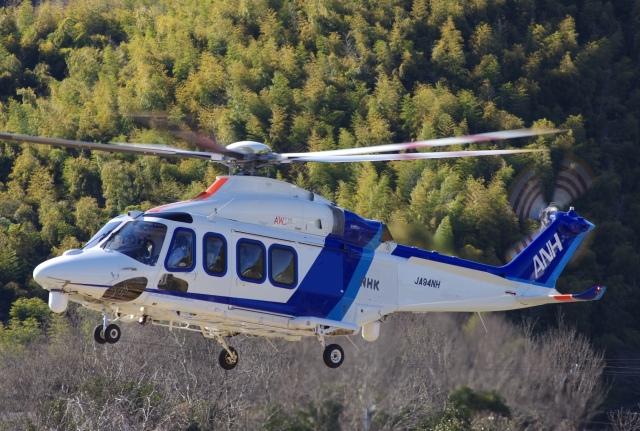 ラムさんが、静岡ヘリポートで撮影したオールニッポンヘリコプター AW139の航空フォト(飛行機 写真・画像)