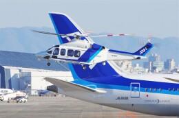mild lifeさんが、伊丹空港で撮影したオールニッポンヘリコプター AW139の航空フォト(飛行機 写真・画像)