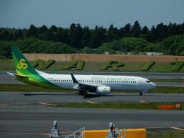 kiyo hさんが、成田国際空港で撮影した春秋航空日本 737-86Nの航空フォト(飛行機 写真・画像)