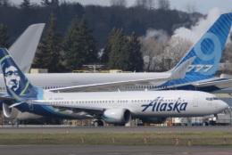 romyさんが、ボーイングフィールドで撮影したアラスカ航空 737-9-MAXの航空フォト(飛行機 写真・画像)
