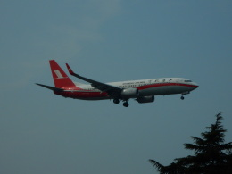 kiyo hさんが、上海虹橋国際空港で撮影した上海航空 737-89Pの航空フォト(飛行機 写真・画像)