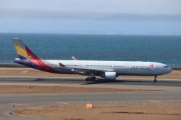 さかいさんが、中部国際空港で撮影したアシアナ航空 A330-323Xの航空フォト(飛行機 写真・画像)