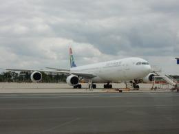 kiyo hさんが、フランクフルト国際空港で撮影した南アフリカ航空 A340-642の航空フォト(飛行機 写真・画像)