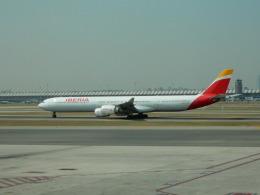 kiyo hさんが、マドリード・バラハス国際空港で撮影したイベリア航空 A340-642の航空フォト(飛行機 写真・画像)
