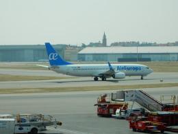 kiyo hさんが、マドリード・バラハス国際空港で撮影したエア・ヨーロッパ 737-85Pの航空フォト(飛行機 写真・画像)
