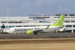 EosR2さんが、鹿児島空港で撮影したソラシド エア 737-881の航空フォト(飛行機 写真・画像)