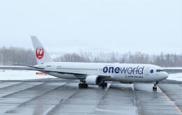 にしやんさんが、女満別空港で撮影した日本航空 767-346の航空フォト(飛行機 写真・画像)
