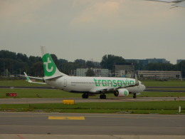 kiyo hさんが、アムステルダム・スキポール国際空港で撮影したトランサヴィア 737-8K2の航空フォト(飛行機 写真・画像)