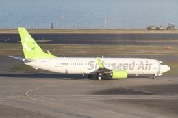 プルシアンブルーさんが、羽田空港で撮影したソラシド エア 737-86Nの航空フォト(飛行機 写真・画像)