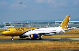 ちっとろむさんが、フランクフルト国際空港で撮影したガルフ・エア A320-214の航空フォト(飛行機 写真・画像)