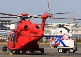 LOTUSさんが、八尾空港で撮影した三井物産エアロスペース AW139の航空フォト(飛行機 写真・画像)