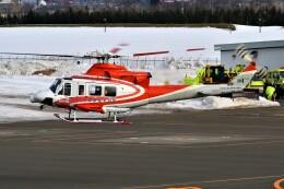 hidetsuguさんが、札幌飛行場で撮影した北海道防災航空隊 412EPの航空フォト(飛行機 写真・画像)