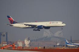 飛行機ゆうちゃんさんが、羽田空港で撮影したデルタ航空 A350-941の航空フォト(飛行機 写真・画像)