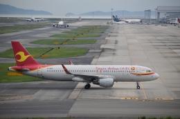 hachiさんが、関西国際空港で撮影した天津航空 A320-214の航空フォト(飛行機 写真・画像)