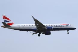かみじょー。さんが、ロンドン・シティ空港で撮影したBAシティフライヤー ERJ-190-100 LR (ERJ-190LR)の航空フォト(飛行機 写真・画像)