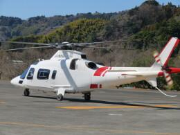 ランチパッドさんが、静岡ヘリポートで撮影した鹿児島国際航空 A109E Powerの航空フォト(飛行機 写真・画像)