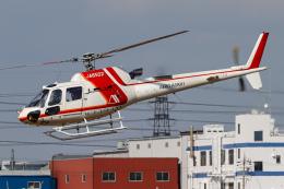 A.Tさんが、八尾空港で撮影した朝日航洋 AS350B3 Ecureuilの航空フォト(飛行機 写真・画像)