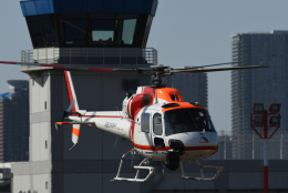 チャーリーマイクさんが、東京ヘリポートで撮影した朝日航洋 AS355F1 Ecureuil 2の航空フォト(飛行機 写真・画像)
