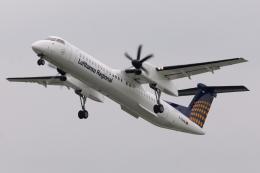kinsanさんが、ヴァーツラフ・ハヴェル・プラハ国際空港で撮影したアウグスブルグ・エアウェイズ DHC-8-402Q Dash 8の航空フォト(飛行機 写真・画像)