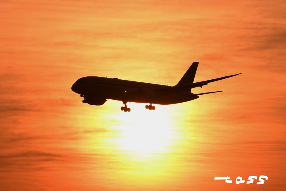 tassさんのZIPAIR Boeing 787-8 Dreamliner (JA825J) 航空フォト