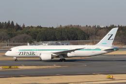 安芸あすかさんが、成田国際空港で撮影したZIPAIR 787-8 Dreamlinerの航空フォト(飛行機 写真・画像)
