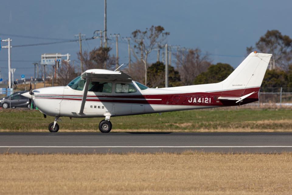 (新)ふぁんとむ改さんのエス・ジー・シー佐賀航空 Cessna 172 (JA4121) 航空フォト