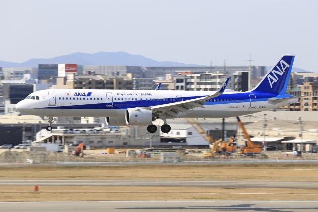 aki241012さんが、福岡空港で撮影した全日空 A321-272Nの航空フォト(飛行機 写真・画像)