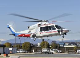 パンサーRP21さんが、群馬ヘリポートで撮影した山梨県消防防災航空隊 S-76Dの航空フォト(飛行機 写真・画像)