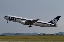 ☆H・I・J☆さんが、広島空港で撮影したLOTポーランド航空 767-319/ERの航空フォト(飛行機 写真・画像)