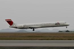 ☆H・I・J☆さんが、広島空港で撮影した日本航空 MD-90-30の航空フォト(飛行機 写真・画像)