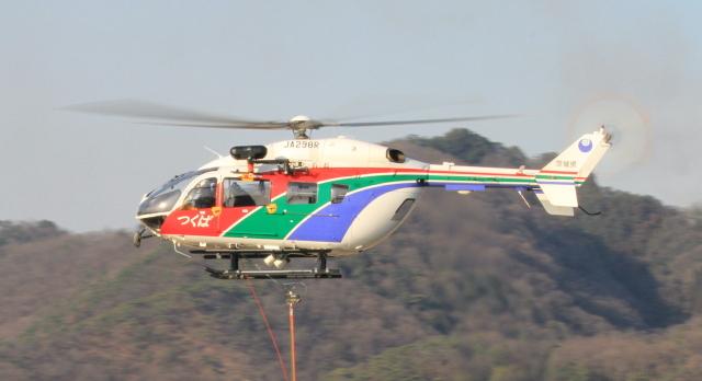 すけちゃんさんが、場外着陸場で撮影した茨城県防災航空隊 BK117C-2の航空フォト(飛行機 写真・画像)