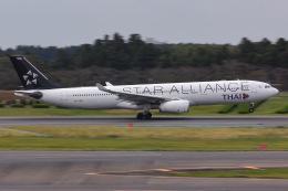よんろくさんが、成田国際空港で撮影したタイ国際航空 A330-343Xの航空フォト(飛行機 写真・画像)