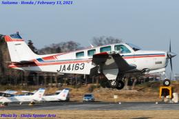 Chofu Spotter Ariaさんが、ホンダエアポートで撮影した日本個人所有 A36 Bonanza 36の航空フォト(飛行機 写真・画像)