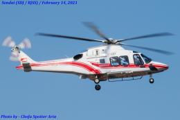 Chofu Spotter Ariaさんが、仙台空港で撮影した東北エアサービス AW169の航空フォト(飛行機 写真・画像)