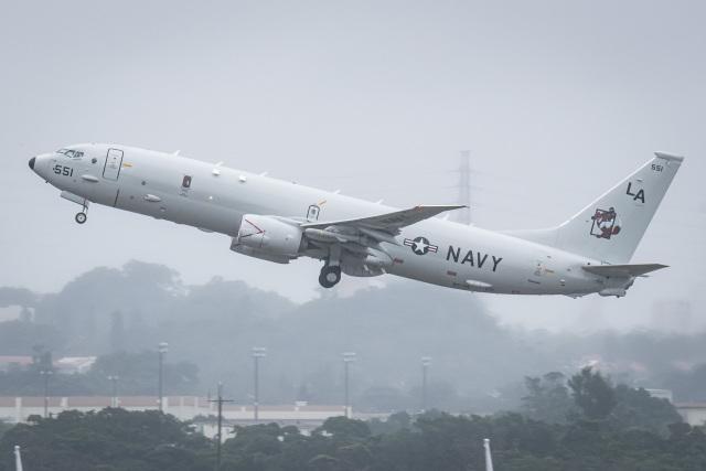 I.Kさんが、嘉手納飛行場で撮影したアメリカ海軍 P-8A (737-8FV)の航空フォト(飛行機 写真・画像)