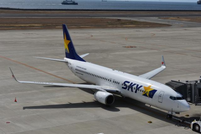 空が大好き!さんが、神戸空港で撮影したスカイマーク 737-81Dの航空フォト(飛行機 写真・画像)