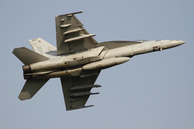 とらとらさんが、厚木飛行場で撮影したアメリカ海軍 F/A-18E Super Hornetの航空フォト(飛行機 写真・画像)