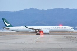 M.Tさんが、関西国際空港で撮影したキャセイパシフィック航空 A350-1041の航空フォト(飛行機 写真・画像)
