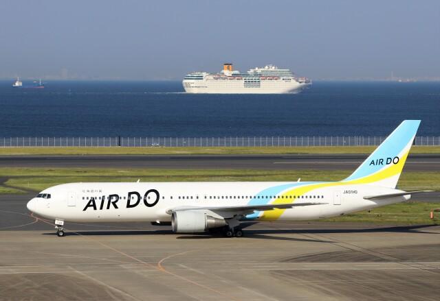 ハム太郎。さんが、羽田空港で撮影したAIR DO 767-33A/ERの航空フォト(飛行機 写真・画像)