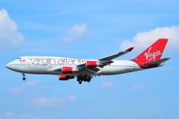 ちっとろむさんが、フランクフルト国際空港で撮影したヴァージン・アトランティック航空 747-41Rの航空フォト(飛行機 写真・画像)