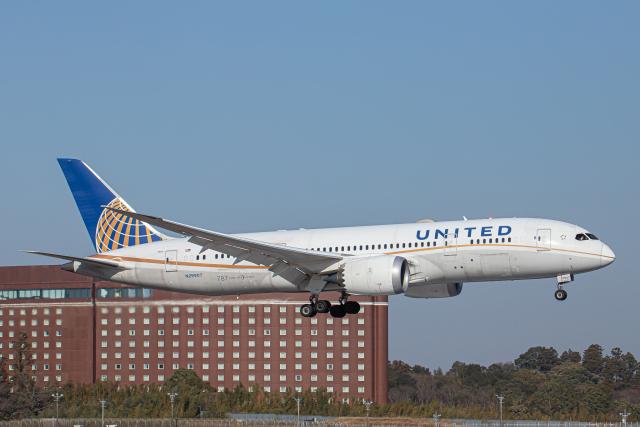 SGR RT 改さんが、成田国際空港で撮影したユナイテッド航空 787-8 Dreamlinerの航空フォト(飛行機 写真・画像)