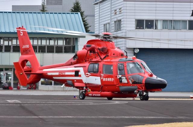 Soraya_Projectさんが、栃木ヘリポートで撮影した東京消防庁航空隊 AS365N3 Dauphin 2の航空フォト(飛行機 写真・画像)